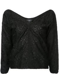 Blusa de encaje negra de Rochas