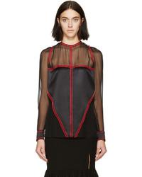 Blusa de gasa negra de Givenchy