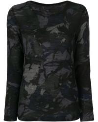 Blusa de lana estampada en gris oscuro de Y's