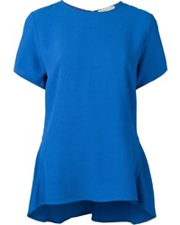 Blusa de manga corta azul de MICHAEL Michael Kors
