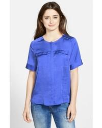7af34448df Comprar una blusa de manga corta azul de Nordstrom  elegir blusas de ...