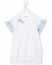 Blusa de manga corta blanca de Familiar