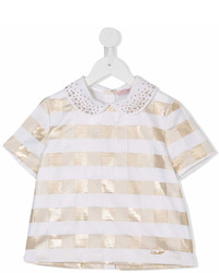 Blusa de manga corta blanca de Miss Blumarine