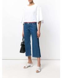 Blusa de manga corta con volante blanca de P.A.R.O.S.H.