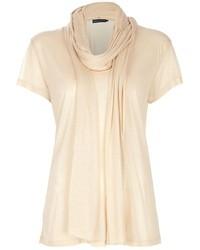 Blusa de manga corta en beige de Ralph Lauren