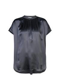 Blusa de manga corta en gris oscuro de Vince