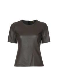 Blusa de manga corta en marrón oscuro de Adam Lippes
