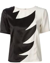 Blusa de manga corta en negro y blanco de Marc by Marc Jacobs