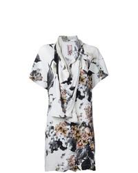 Blusa de manga corta estampada blanca de Antonio Marras