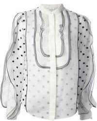 Blusa de manga larga a lunares blanca de Chloé