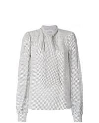 Blusa de manga larga a lunares blanca de Maison Margiela