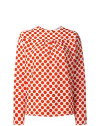 Blusa de manga larga a lunares roja de MSGM