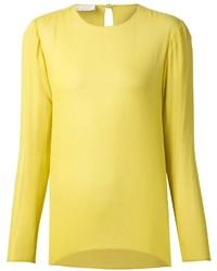 Blusa de manga larga amarilla