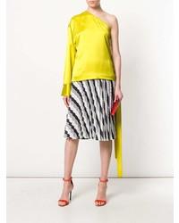 Blusa de manga larga amarilla de MSGM