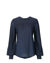 Blusa de manga larga azul marino de Golden Goose Deluxe Brand