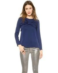 Blusa de manga larga azul marino de Milly