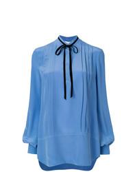 Blusa de manga larga azul de Lanvin