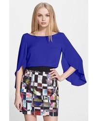 Blusa de manga larga azul de Milly