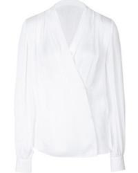 Blusa de manga larga blanca