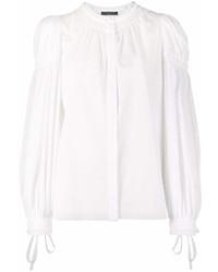 Blusa de manga larga blanca de Alexander McQueen