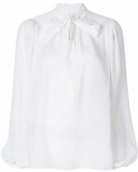 Blusa de manga larga blanca de Dolce & Gabbana