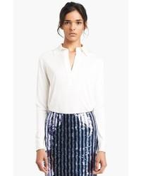 Blusa de manga larga blanca de Marc Jacobs