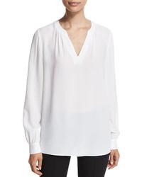 Blusa de manga larga blanca de Michael Kors