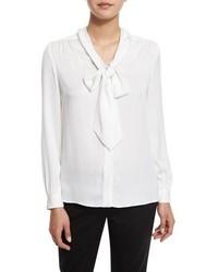 Blusa de manga larga blanca de Milly