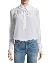 Blusa de manga larga blanca de Roberto Cavalli