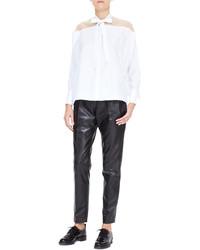Blusa de manga larga blanca de Valentino
