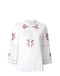Blusa de manga larga bordada blanca de Vilshenko