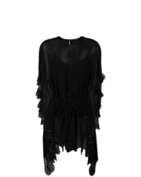 Blusa de manga larga bordada negra de Twin-Set