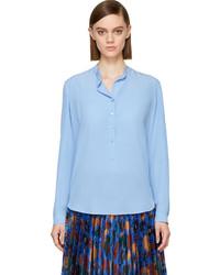 Blusa de manga larga celeste de Stella McCartney