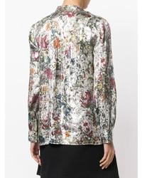 Blusa de manga larga con print de flores en multicolor de Tory Burch