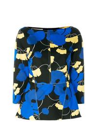 Blusa de manga larga con print de flores negra de Marni