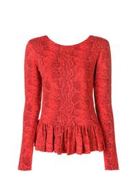 Blusa de manga larga con print de serpiente roja de Chloé