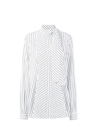 Blusa de manga larga de rayas verticales blanca de JW Anderson
