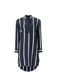 Blusa de manga larga de rayas verticales en azul marino y blanco de Rag & Bone