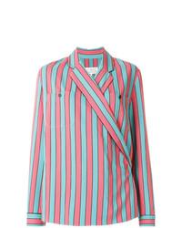 Blusa de manga larga de rayas verticales en multicolor de Maison Margiela