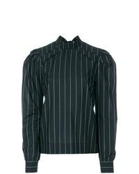 Blusa de manga larga de rayas verticales negra de MSGM
