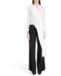 Blusa de manga larga de seda blanca de Givenchy