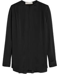 Blusa de manga larga de seda negra de Stella McCartney