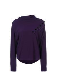 Blusa de manga larga en violeta