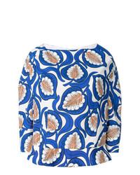 Blusa de manga larga estampada azul de Marni