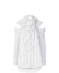 Blusa de manga larga estampada blanca de Monse