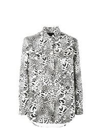 Blusa de manga larga estampada en blanco y negro de Philipp Plein