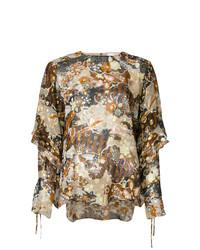 Blusa de manga larga estampada en multicolor de Chloé