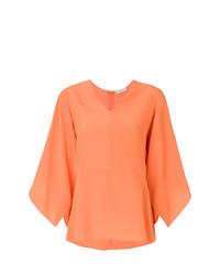 Blusa de manga larga naranja de Etro