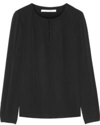 Blusa de manga larga negra de Diane von Furstenberg