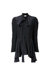 Blusa de manga larga negra de Lanvin